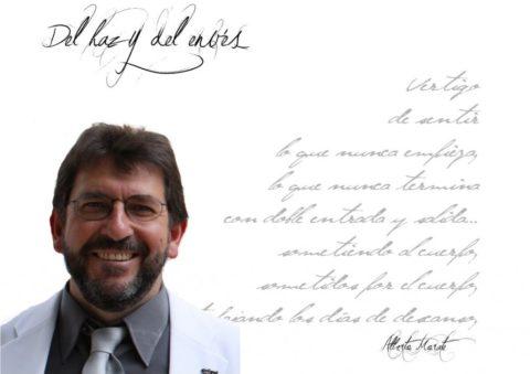 """Alberto Morate: """"No concibo la vida sin poesía. No concibo no leer libros de poemas. Puedo prescindir de la prosa, pero no de la poesía""""."""