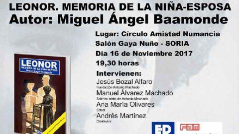 Presentación en Soria: Leonor. Memoria de la niña esposa.